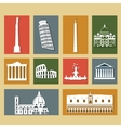 Landmarks of Italy set vector image vector image