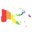 lgbt spectrum dot papua new guinea map vector image