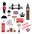 london city collection of themed clip-art vector image vector image