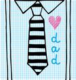 love dad necktie vector image vector image