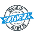made in South Africa blue round vintage stamp vector image vector image