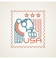 made in usa symbol with american flag and vector image vector image
