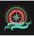 Marine emblem windrose vector image vector image