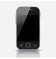 Mobile phone with blank screen eps 10 vector image