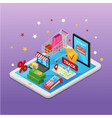 mobile shopping e-commerce online supermarket vector image vector image