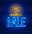 neon sign summer sale vector image