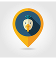 Peacock flat pin map icon Animal head vector image vector image
