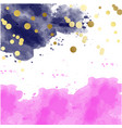 pink watercolor blots pattern top abstract frame vector image