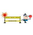 Police traffic stop cartoon vector image vector image