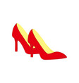 red high heels shoes fashion style item design vector image