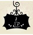 retro coffee signboard vector image