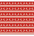 Seamless Christmas Traditional Pattern with Deers vector image vector image