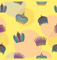 seamless pattern with bright graceful crowns vector image