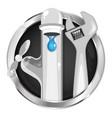 service plumbing symbol vector image