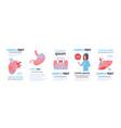 set different human internal organs infographic vector image