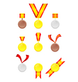 set of golden tags vector image