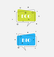 set of trendy flat geometric bubbles vivid vector image vector image