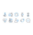 set people icons such as smile strategy vector image vector image