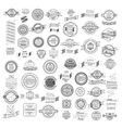 set retro vintage ribbons and label vector image vector image