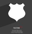 shield icon symbol Flat modern web design with vector image