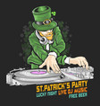 st patricks day dj party vector image vector image