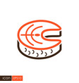 steak of red fish salmon icon vector image