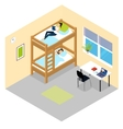 Student Room Isometric Composition vector image