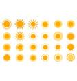 sun icons modern simple seasons signs summer vector image