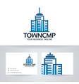 town company logo design vector image vector image