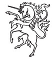 unicorn vintage vector image