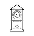 vintage clock pendulum decoration office element vector image vector image