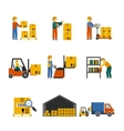 Warehouse Icon Flat vector image