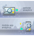 Website analytics search information vector image