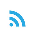 wifi flat icon vector image
