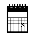 wired calendar icon image vector image