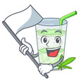 with flag juice lassi bhang isolated on mascot vector image