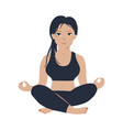 young slim girl practicing yoga meditation in vector image vector image
