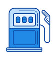 petrol station line icon vector image