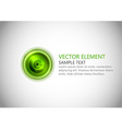 abstract center point green text vector image vector image