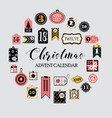 abstract printable tags collection for christmas vector image vector image