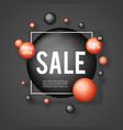 advertising special big offer sale banner layout vector image