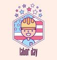 american labor day vector image vector image