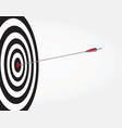 arrow on target vector image