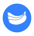 Banana icon black Singe fruit icon from the food vector image vector image