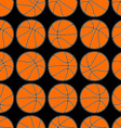basketball with stitching detail seamless pattern vector image vector image