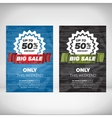 Big Sale flyer template vector image vector image