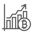 bitcoin chart line icon finance and economy vector image vector image