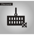 black and white style icon Shopping cart discounts vector image