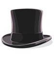 black hat isolated vector image vector image
