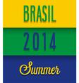 brasil 2014 summer vector image